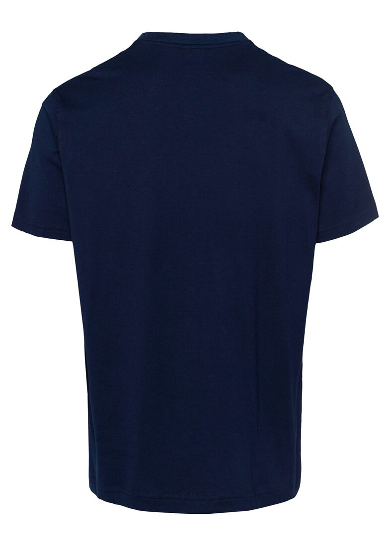 MEN'S KNITTED T-SHIRT C.W. COTTON, Blau, large image number 1