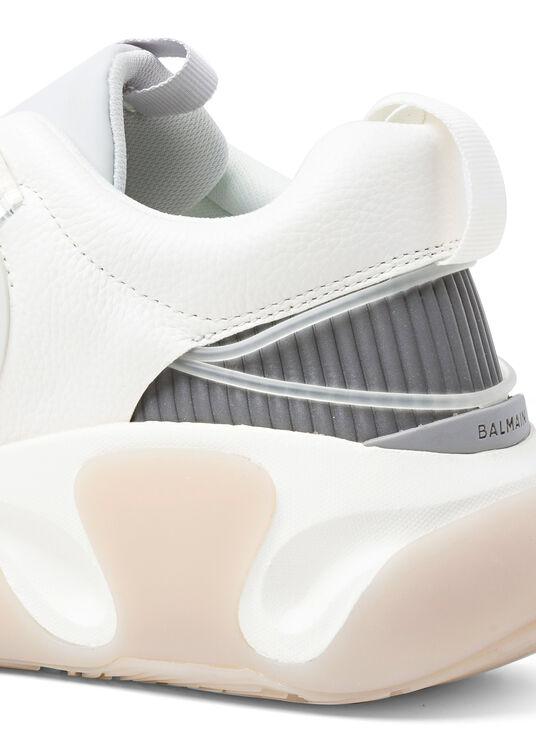 SNEAKER B RUNNER-CUIR GRAINE,MESH&REFLEC image number 3