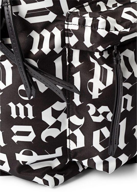 BROKEN MONOGRAM BACKPACK BLACK WHITE image number 2