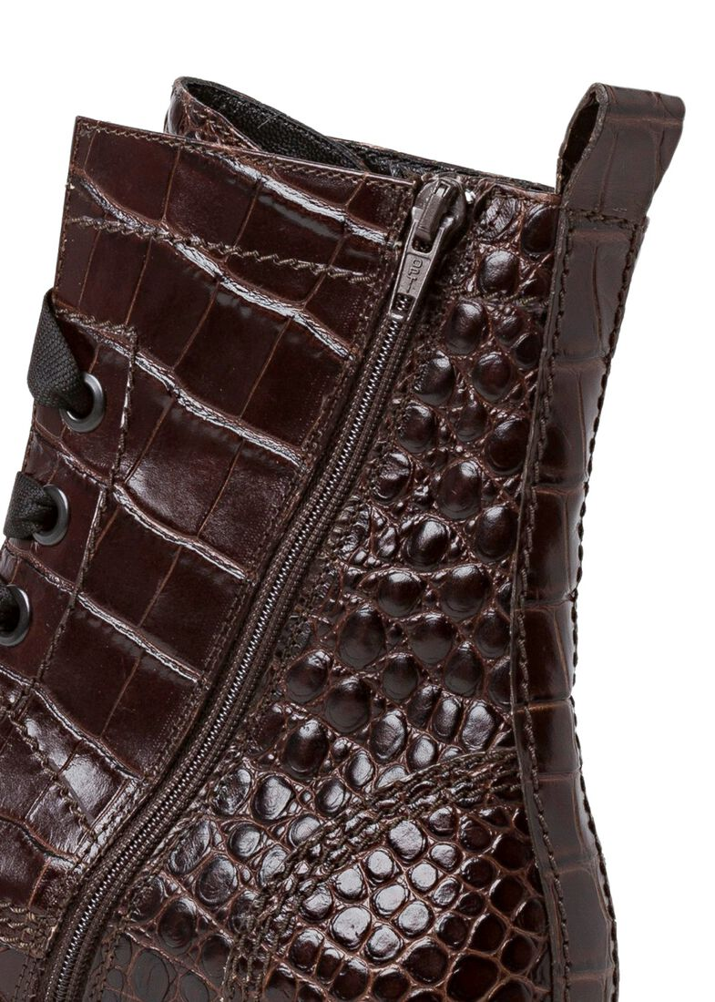 31_Power Lace Boot Croc Calf, Braun, large image number 3