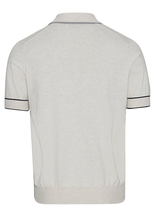 Short Sleeve knitted Polo superlight cotton image number 1