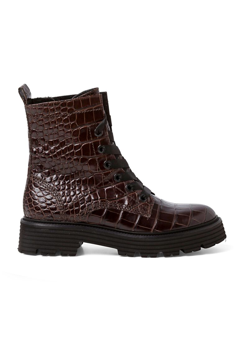 31_Power Lace Boot Croc Calf, Braun, large image number 0