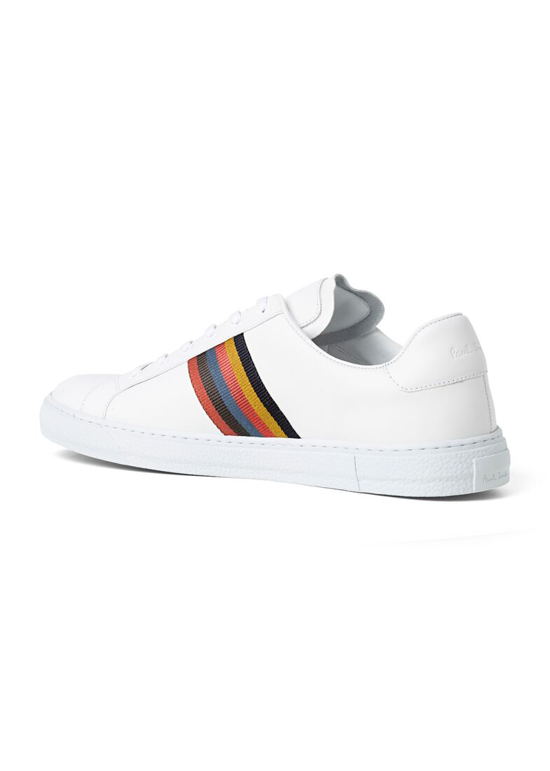 MENS SHOE HANSEN WHITE ARTIST STRIPE, Weiß, large image number 2