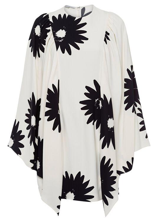 Luciana Dress Linda Floral Sable Envers Satin Print image number 0