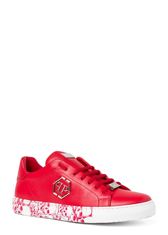 Lo-Top Sneakers hexagon and Skull image number 1