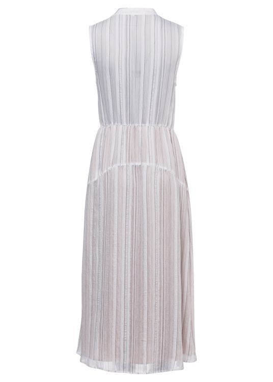 DRAPEY STRIPE TIERED DRESS image number 1