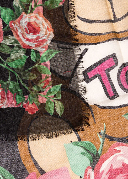Tuch Teddy Flowers 100x100 image number 1
