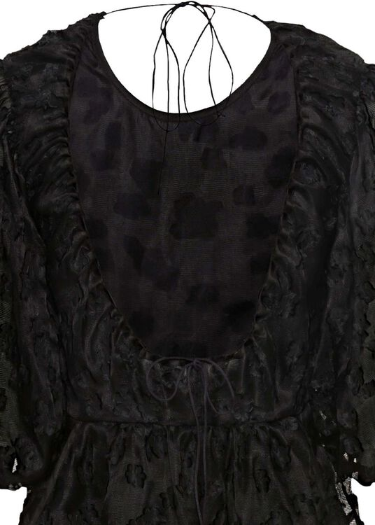 PANELLED GOWN WITH OPEN BACK, Schwarz, large image number 3