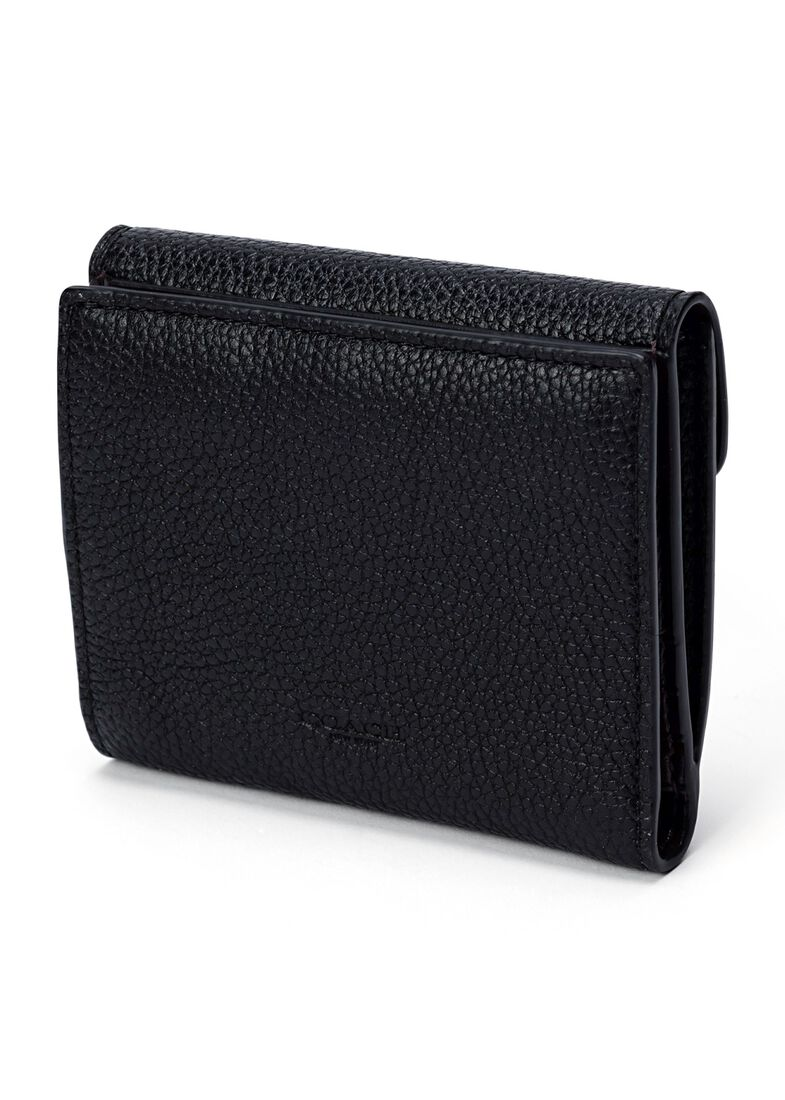 32_Polished Pebble Tabby Small Wallet, Schwarz, large image number 1