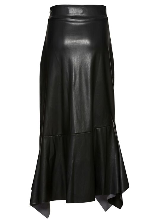HIGH WAIST SKIRT WITH VOLANTS, Schwarz, large image number 1