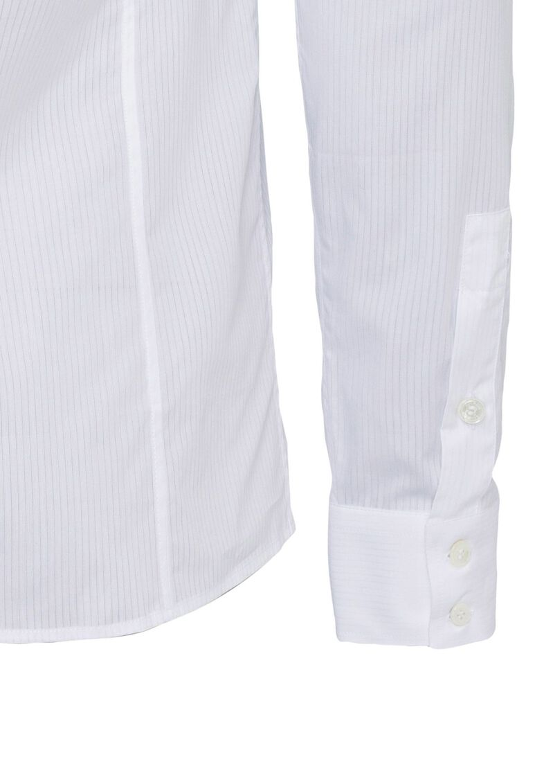 STRIPED COTTON SHIRT, Weiß, large image number 3