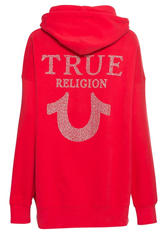 HOODY OVERSIZED RED image number 1