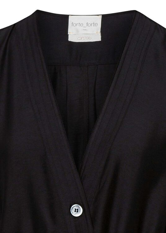 chic twill crossed dress image number 2