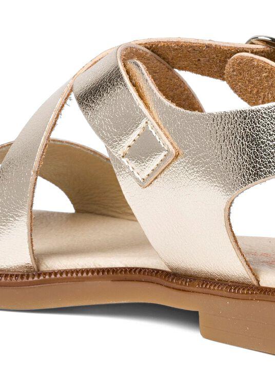 Cross Sandal Metallic, Gold, large image number 3