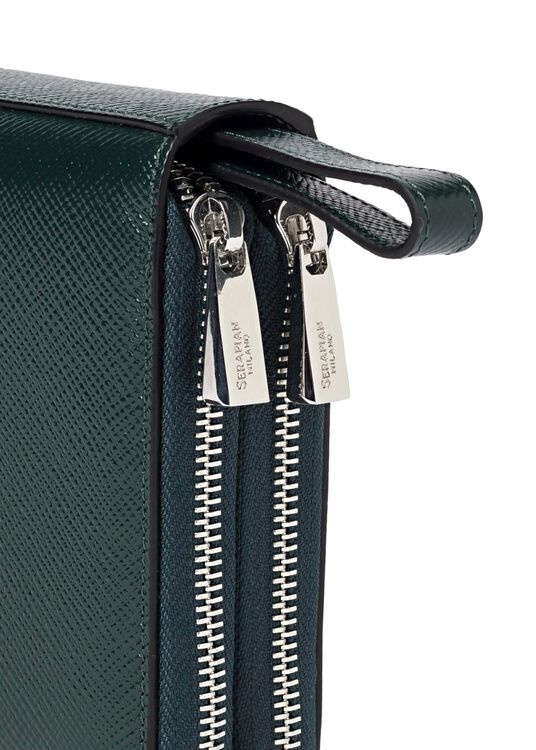 TRAVEL POCHETTE WITH DOUBLE ZIP EVOLUZIONE image number 2