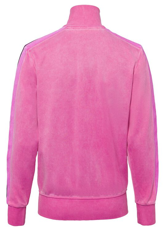 GARMENT DYED TRACK JACKET, Pink, large image number 1