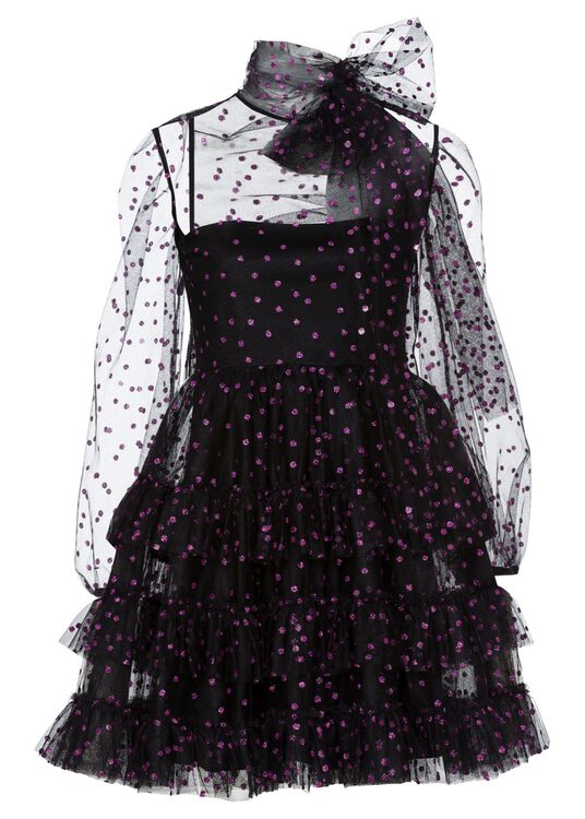 ABITO TULLE POIS GLITTER image number 0