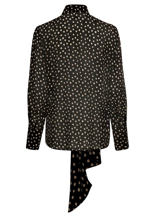 Bluse mit Dot-Print image number 1