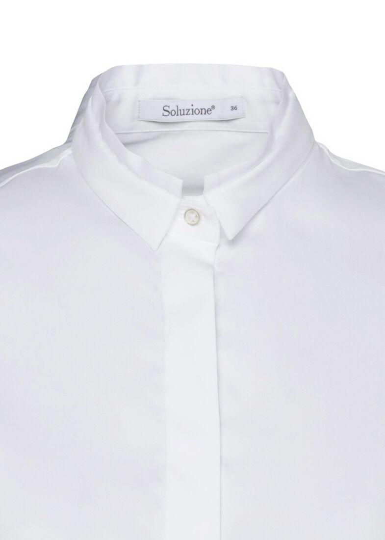 SCT-Shirt weiss-leichte Vokuhila-Doppelkr., Weiß, large image number 2