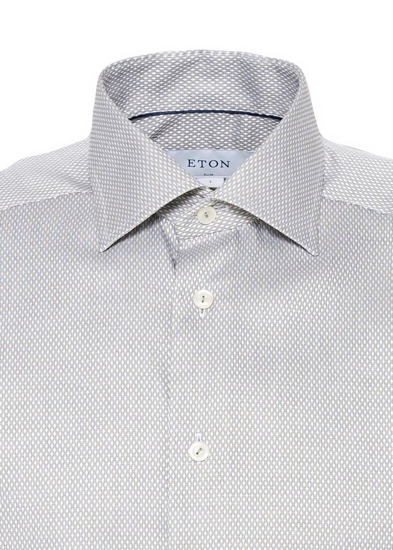 1000012816545 Men shirt: Business casual / Dobby, Grau, large image number 2