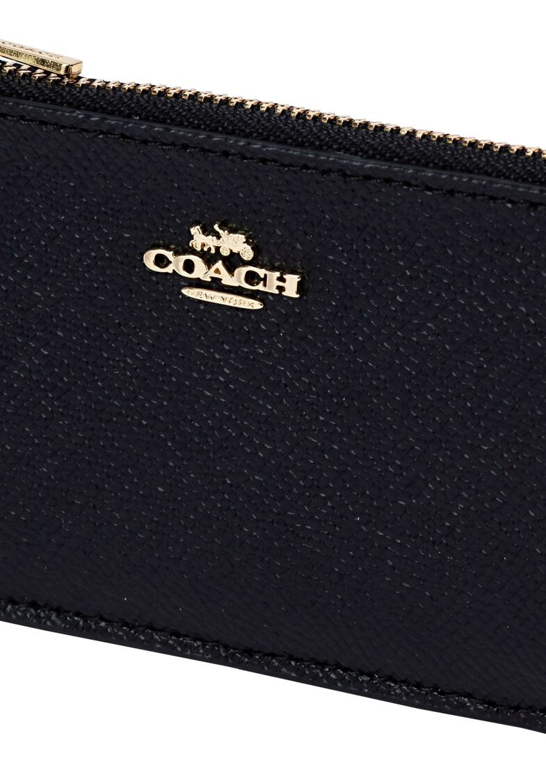 small l zip card case, Schwarz, large image number 2