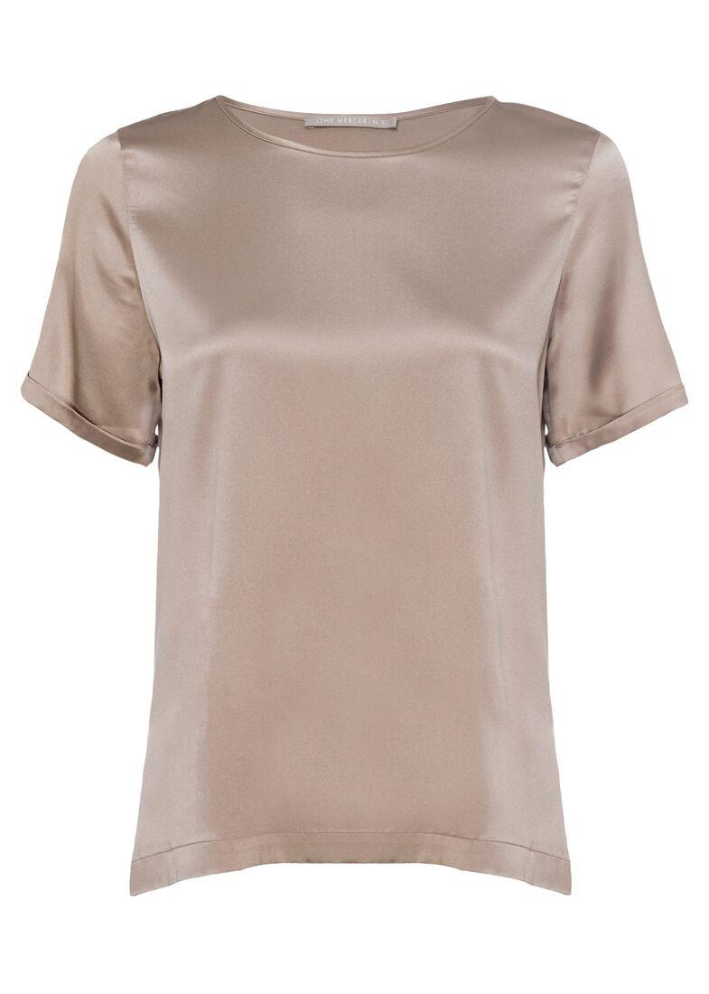 (S)NOS Satinsilk Shirt, Beige, large image number 0