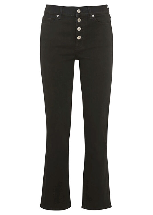 THE STRAIGHT CROP Bair Rinsed Black with Exposed Buttons image number 0