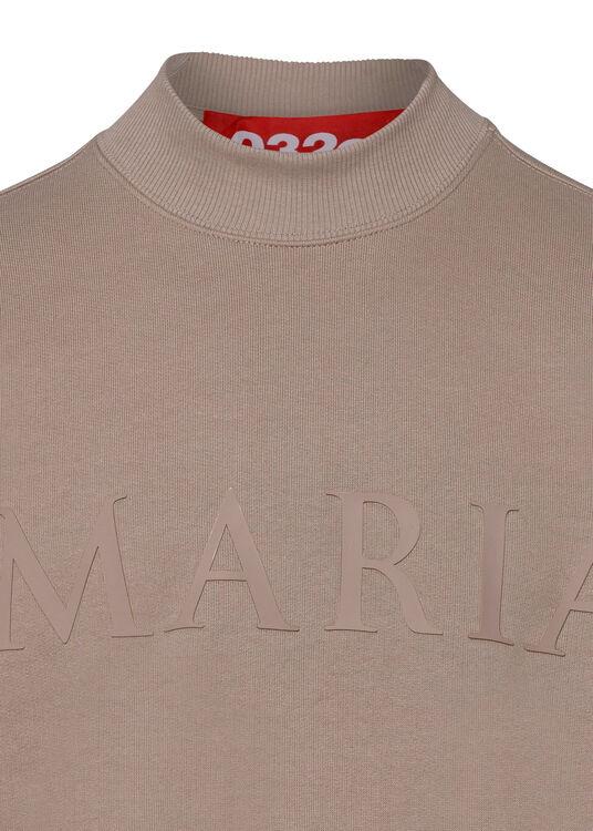 3-D 'MARIA' HEAVY CREWNECK SWEATSHIRT image number 2