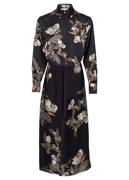 LISIANTHUS TIE FRONT SHIRT DRESS image number 0