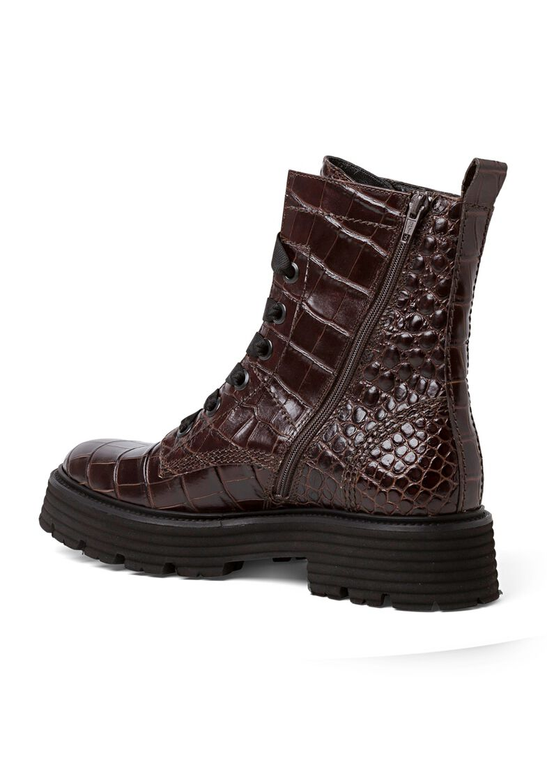 31_Power Lace Boot Croc Calf, Braun, large image number 2