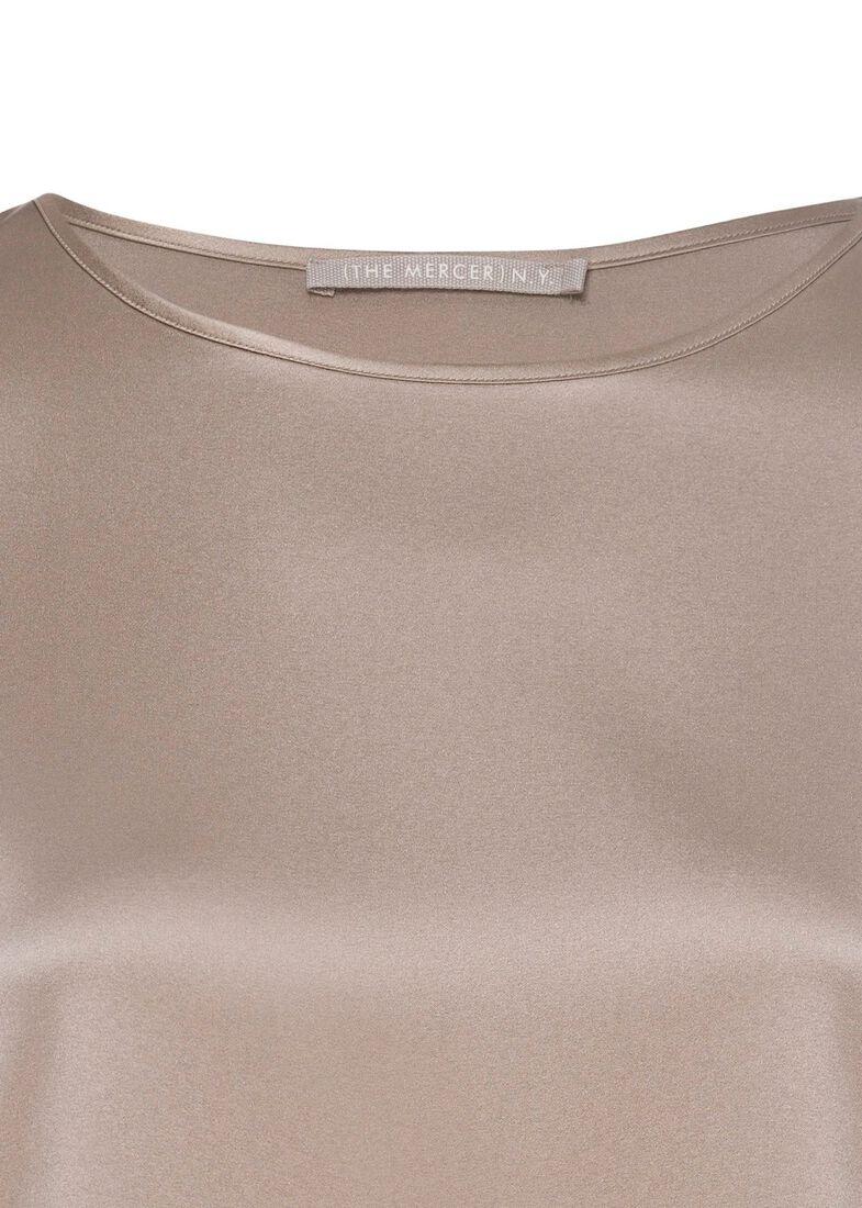 (S)NOS Satinsilk Shirt, Beige, large image number 2