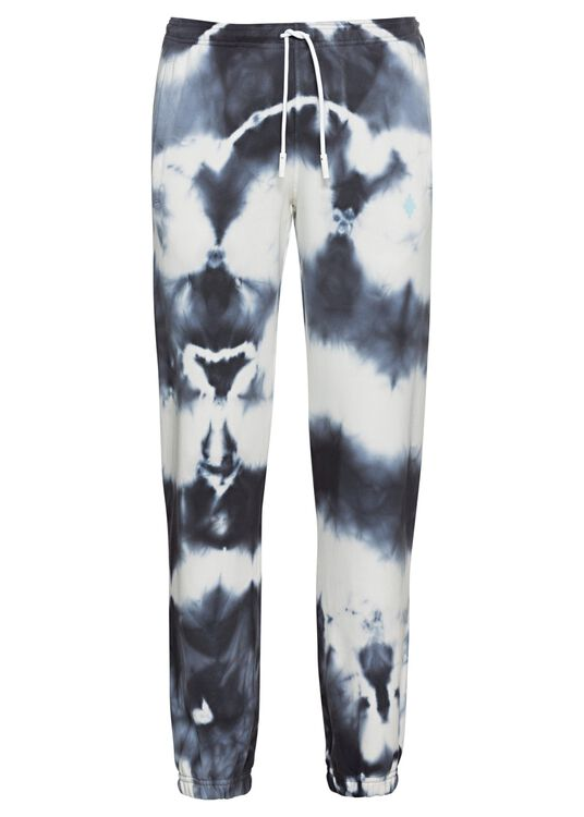 CROSS TIE&DYE RELAX SWEATPANT WHITE DARK, Weiß, large image number 0