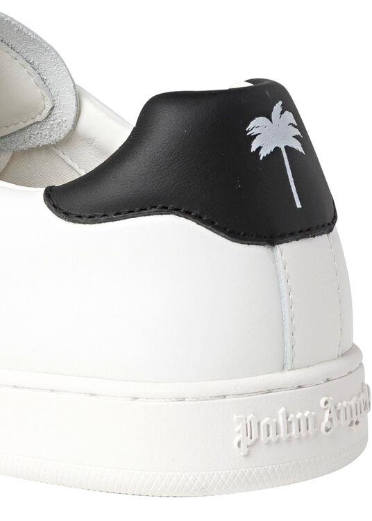 NEW TENNIS SNEAKERS CALF LEA WHITE BLACK image number 3