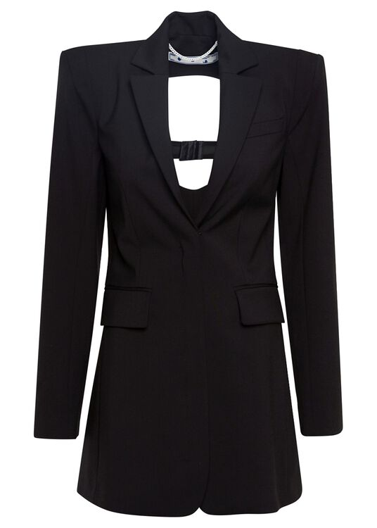FORMAL SEXY BACK BLAZER DRESS image number 0