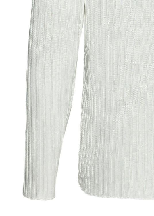 rib longsleeve turtleneck, Weiß, large image number 3