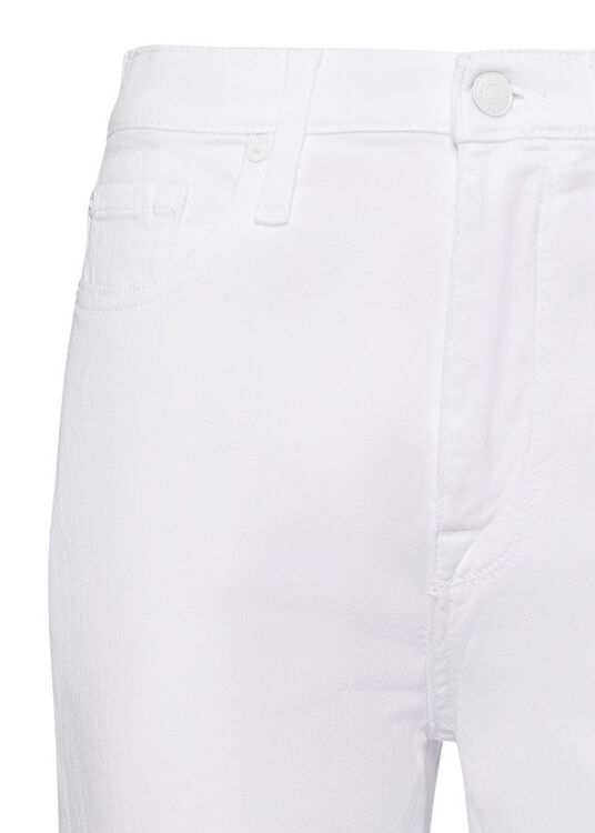 CROPPED ALEXA Left Hand Pure White with Raw Cut Frayed image number 2