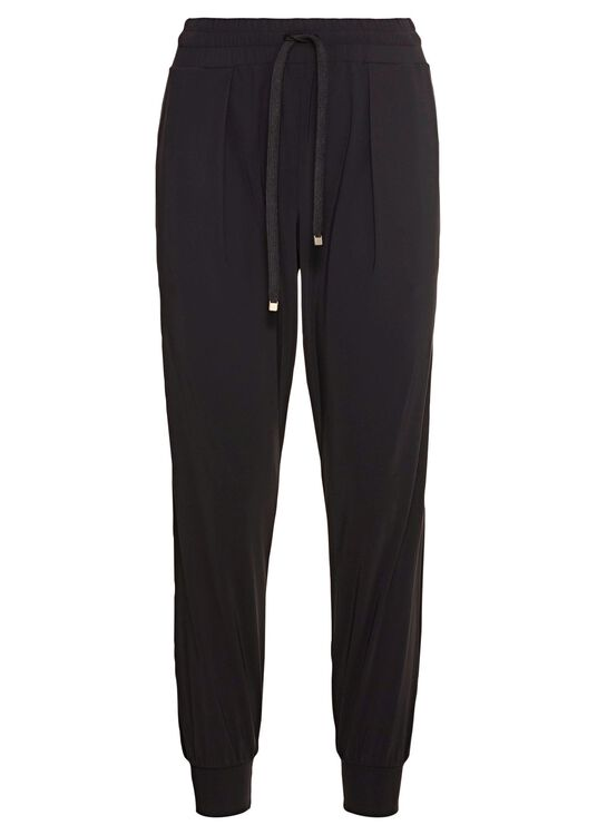 LUXE LEGER TRACK PANTS BLACK image number 0