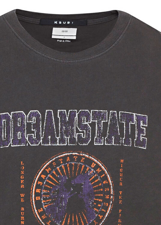 university kash ss tee charcoal image number 2