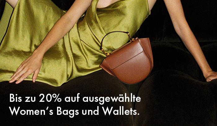 Bis zu 20% auf Women's Bags und Wallets. Bis zum 31. Oktober. Jetzt shoppen