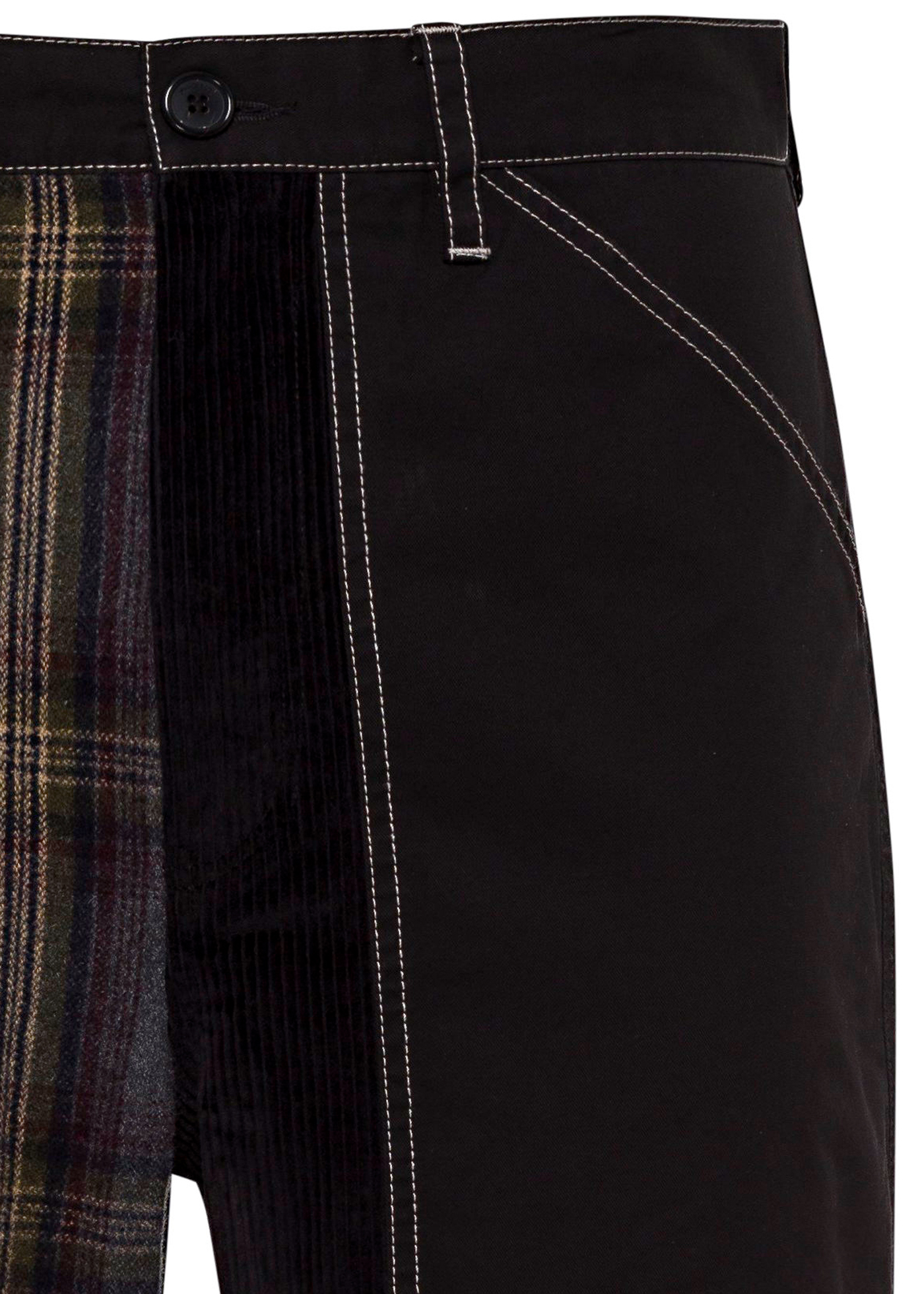 CROPPED PATCHWORK FATIGUE TROUSERS image number 2