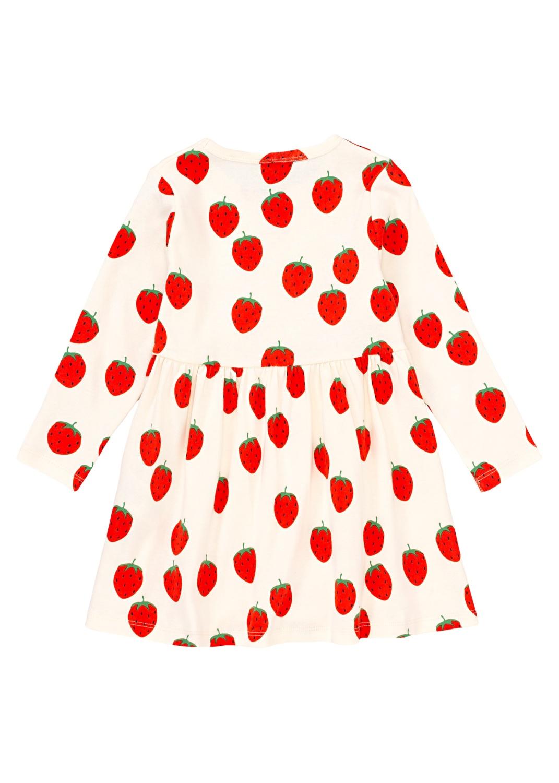 Strawberry aop ls dress image number 1