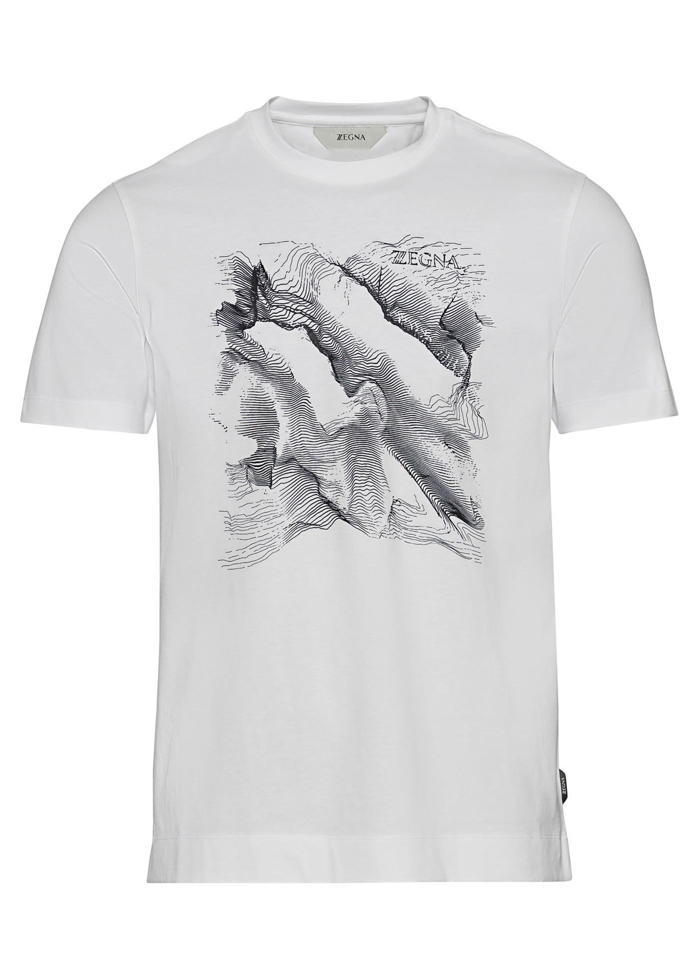 COTTON PLACED PRINT T-SHIRT image number 0