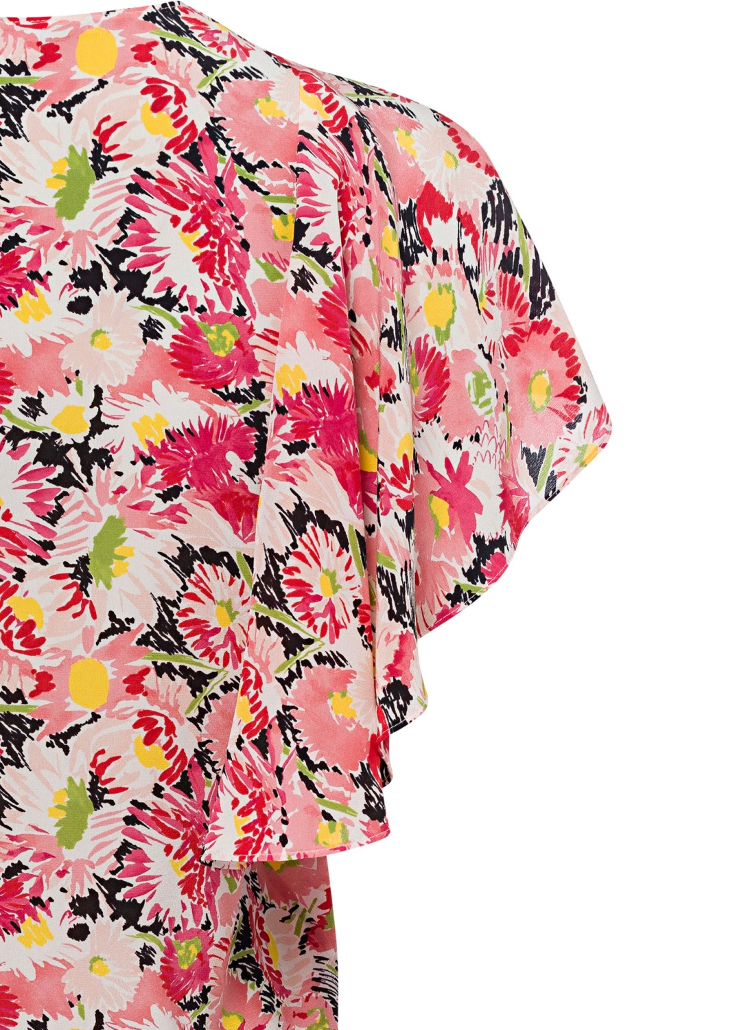 Mallory Top Watercolor Floral Silk Print image number 3