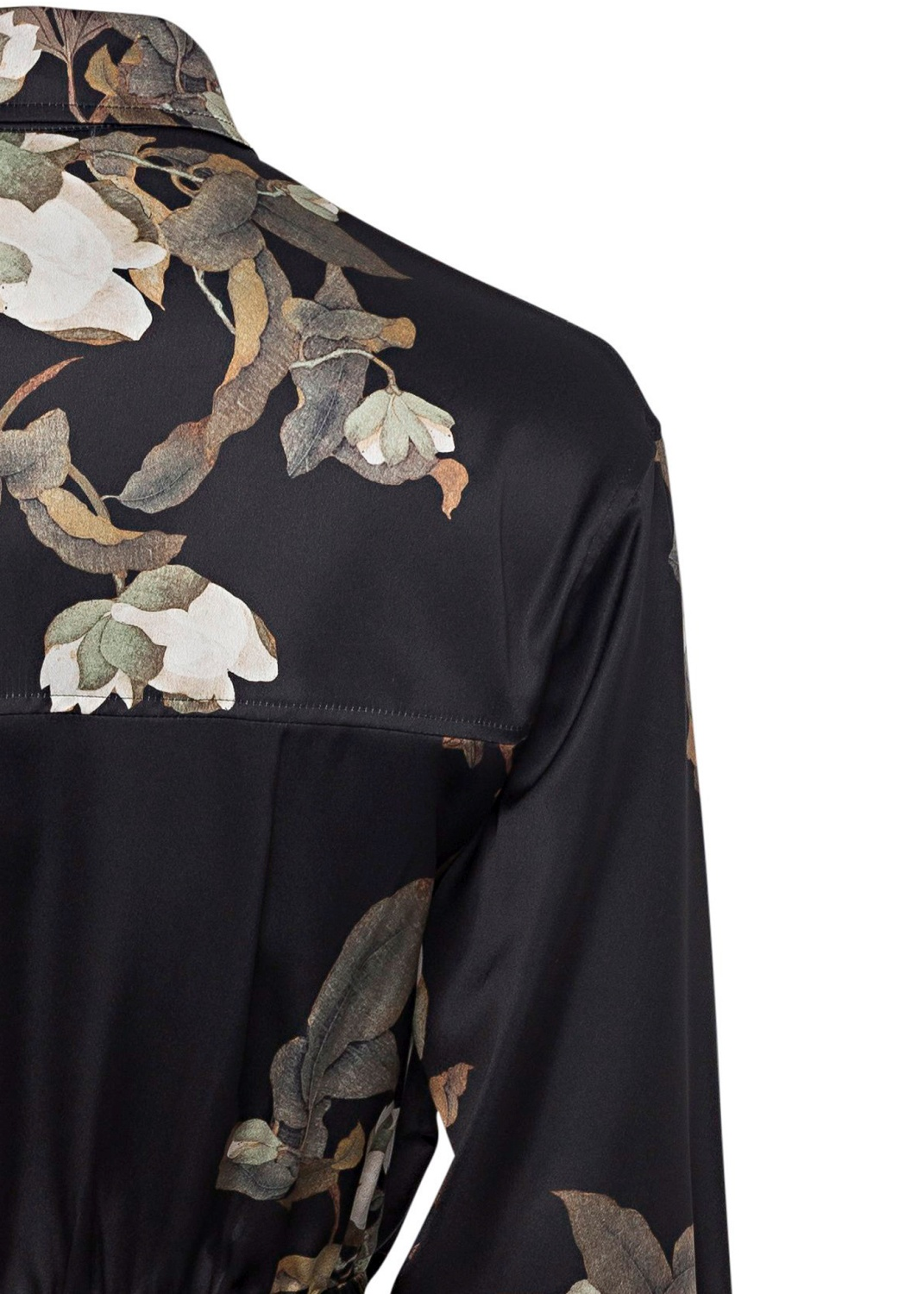 LISIANTHUS TIE FRONT SHIRT DRESS image number 3