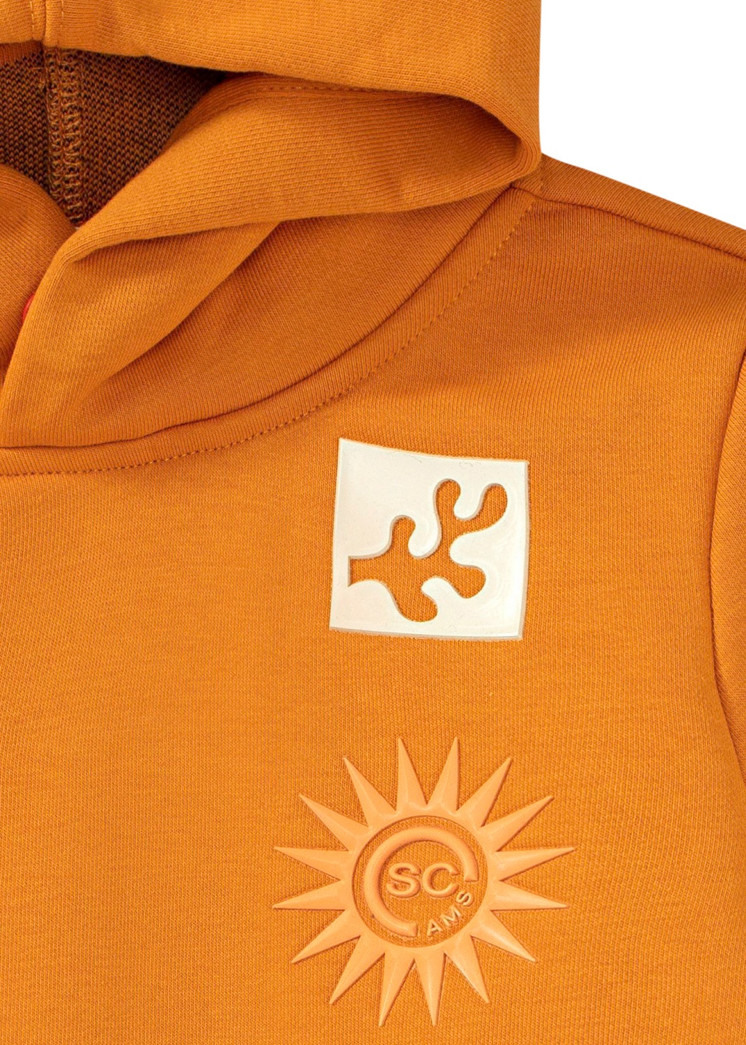 Hoodie with artwork and inner rib collar image number 2