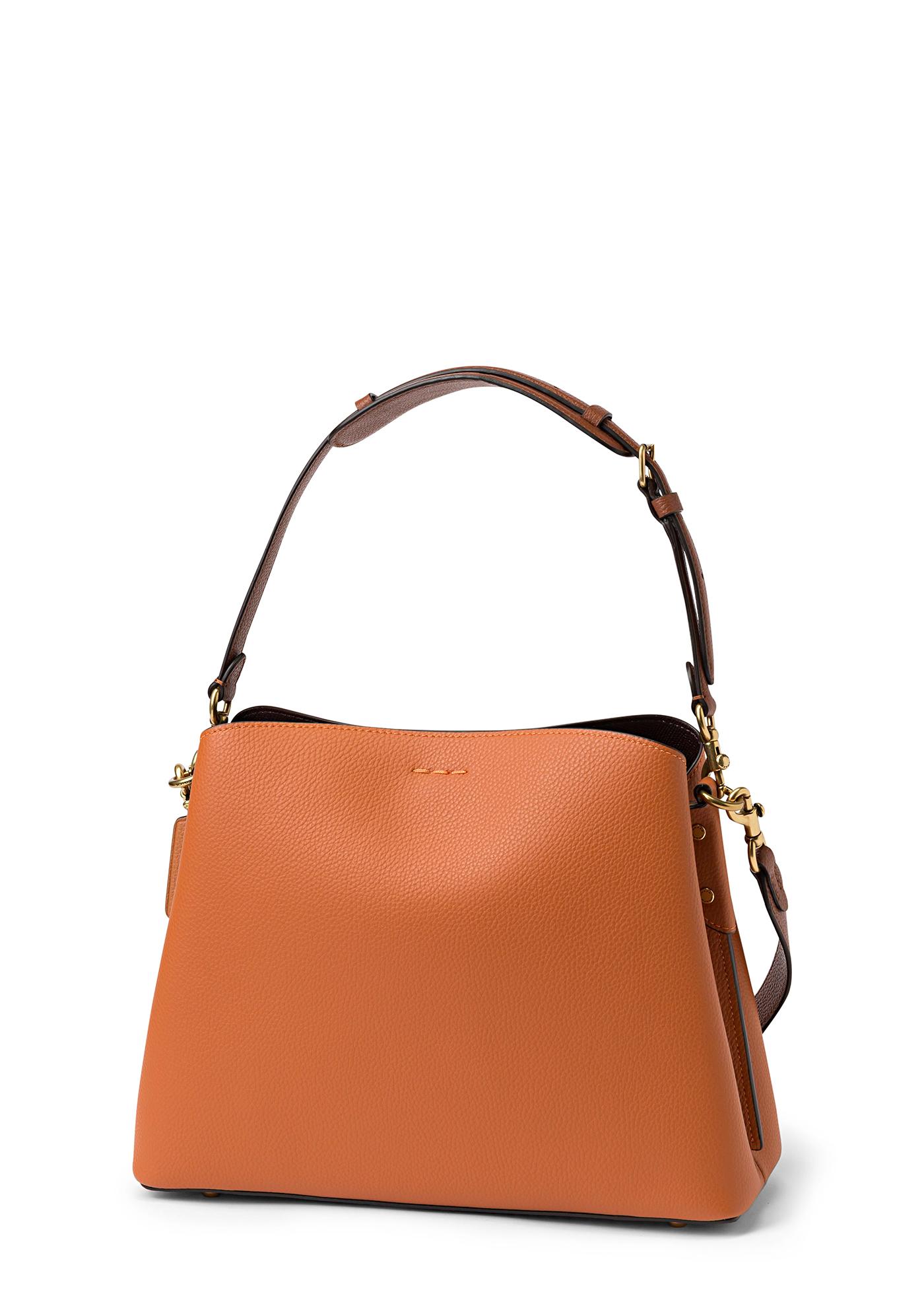 colorblock leather willow shoulder bag image number 1