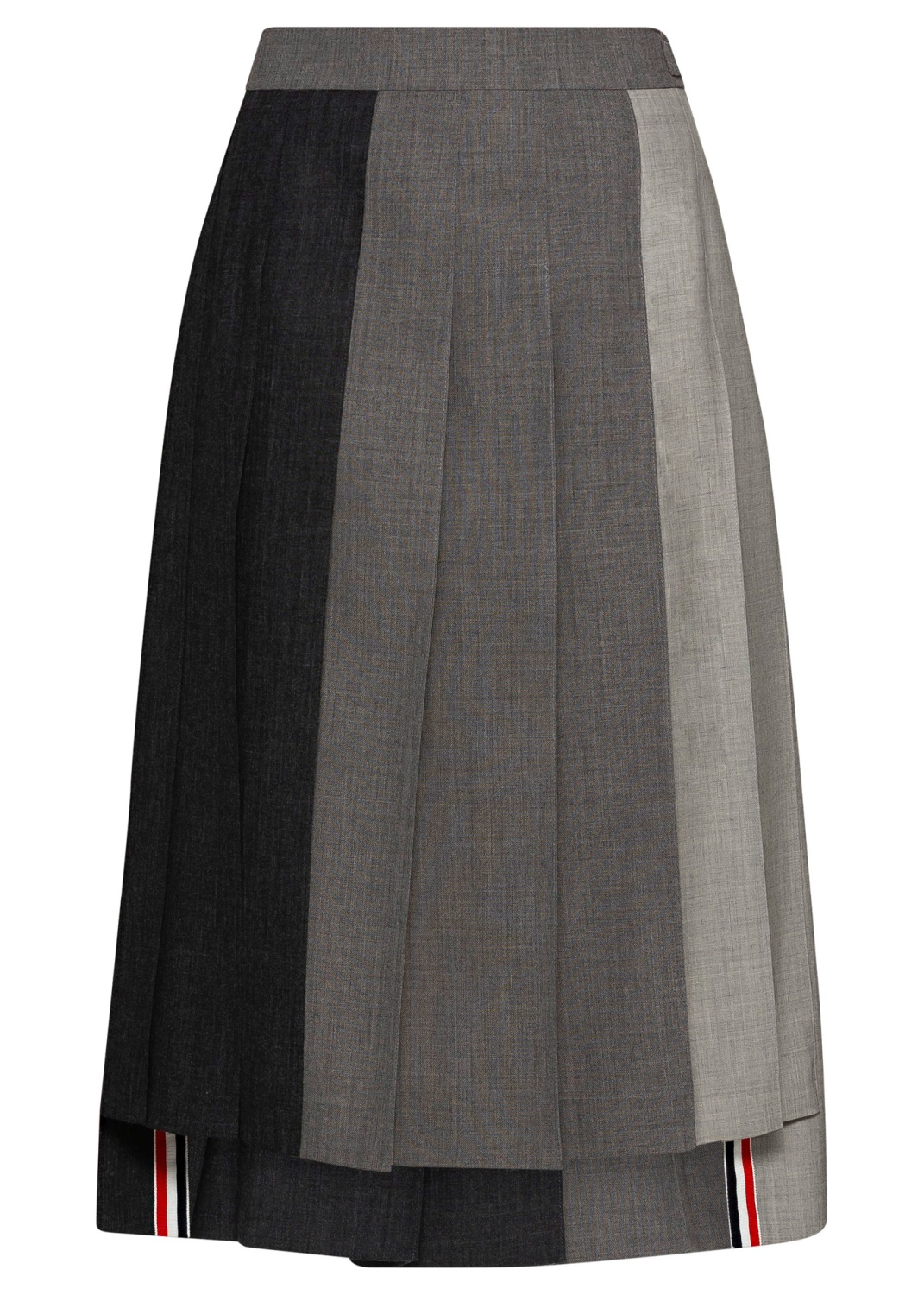 3 BELOW KNEE DROPPED BACK PLEATED SKIRT image number 0