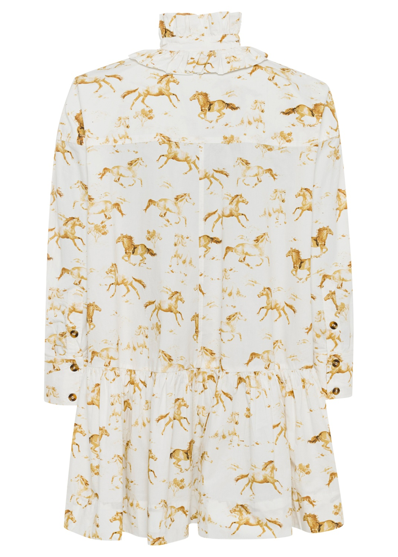 Printed Cotton Poplin Dress image number 1