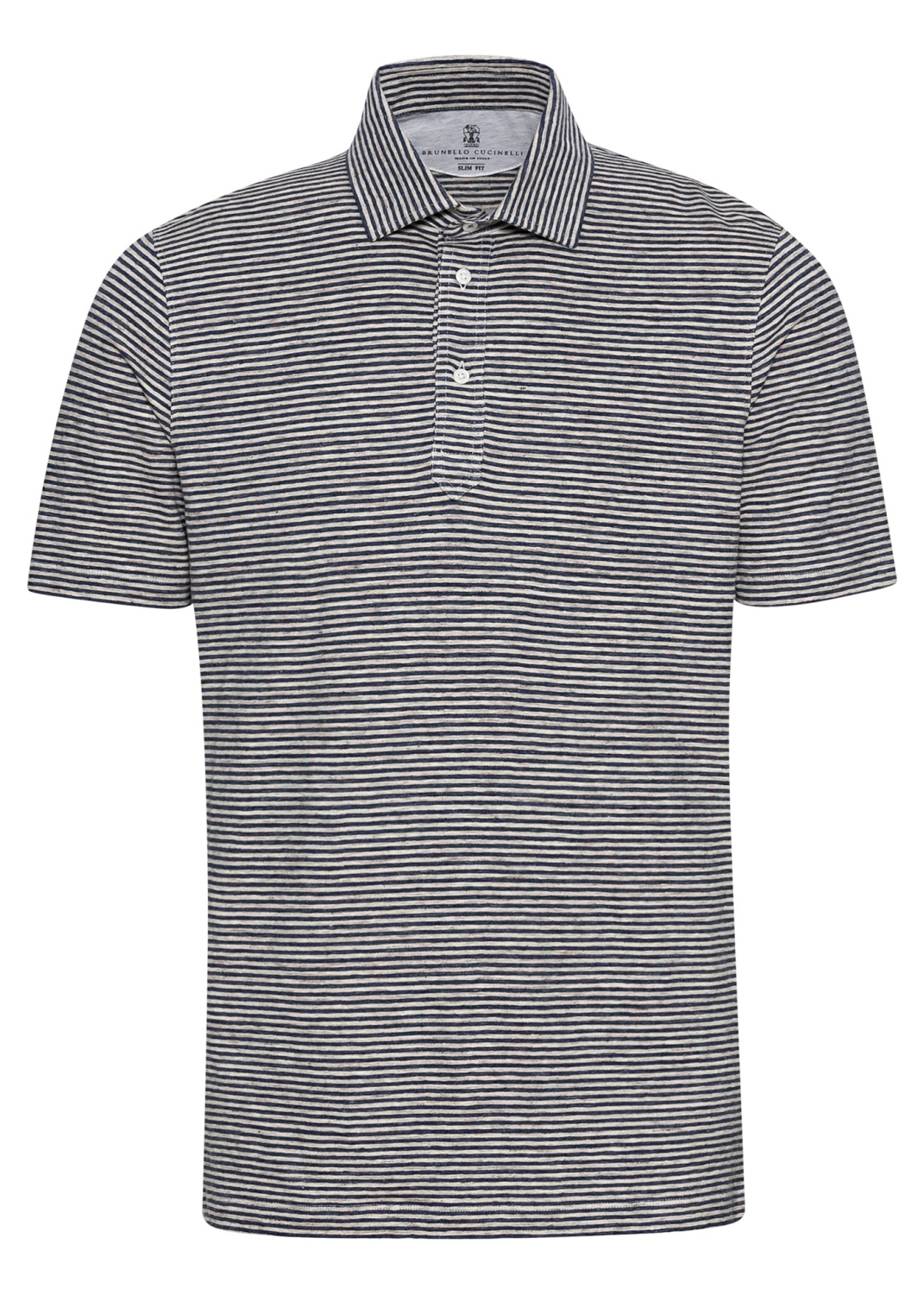 Linen Stretch Stiped Polo image number 0
