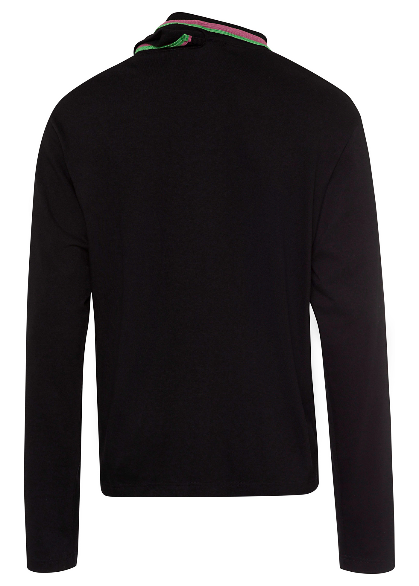 THREE NECK LONG SLEEVE POLO image number 1